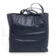 e7cf6b790398 Miu Miu RR1914 Navy Blue Bucket Shoulder Bag Medium NEW  1550