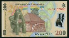 i493 Romania 200 lei 2006 (2016) Polymer Note UNC LUCKY NUMBER 666 uncirculated