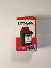 New Genuine OEM Lexmark 90 Photo Inkjet 12A1990 Z22 Z45 Z54 Free Shipping