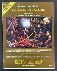 1982 RARE DUNGEON MODULE N1 AGAINST THE CULT OF THE REPTILE GOD 9063