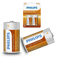 4 Pcs Philips C Batteries 1.5V R14 Zinc Chloride Battery Clocks Control Ex 2022
