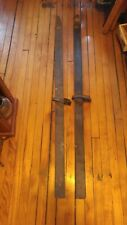 Vintage Strand Wood Skis RARE VERY OLD GREAT DISPLAY DECORATION OR USE