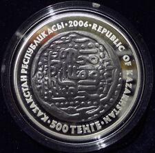 Kazakhstan 2006 Dirkhem Ancient Rarities 500 Tenge Silver Proof Coin Perfect