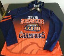 DENVER BRONCOS Football SUPER BOWL XXXIII Champions LARGE Hoodie Shirt NEW Klew