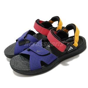 Nike ACG Deschutz Fusion Violet Red Yellow Men Sports Sandals Shoes CT3303-400