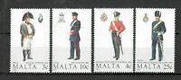 S33048 Malta 1989 MNH Military Uniforms 4v