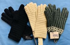 Lot of 3 Pairs NOS Vintage Hansen Wool Gloves One Size New with Tags NWT