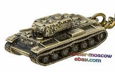 Bronze Solid Brass Keychain Soviet Heavy Tank KV-1 Gespenst WW2 Keyring IronWork