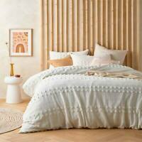 VD Sans Soucci 100% Cotton Chenille Natural Quilt Cover Duvet Doona Set