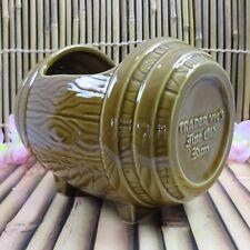 Trader Vic's Fine Old Rum Keg Barrel Mug RETIRED Bowl 2015 Holds 64 Ounces NEW