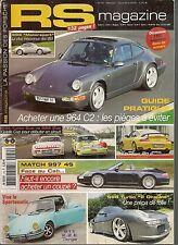 RS MAGAZINE 54 PORSCHE 944 TURBO CUP 964 CUP 997 4S 996 GT2 CLUBSPORT 993 MOTORS