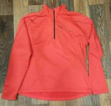 Mens Salomon Top 1/4 Zip Jacket Orange Stretch XL