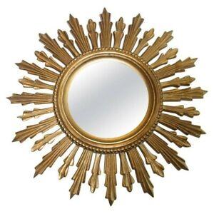 Vintage Italian 1960s Sunburst Gold Mirror in very good condition