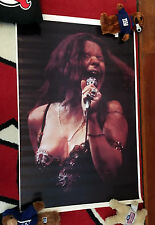 JANIS JOPLIN TRADEMARK SPAGHETTI STRAP DRESS 1943-1970 POSTER Never hung 1972