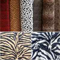 VELBOA FUR Leopard Animal Print Velour Fabric Material Cuddle Soft -59'' wide