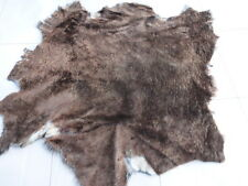 sheepskin shearling leather hide Dark Brown w/Grey undertones w/Grey suede back
