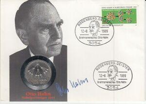 D. Numisbrief   Deutschland  Otto Hahn  1989
