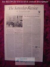 SATURDAY REVIEW October 21 1933 Paul Blandshard Leonard Bacon Ben Ray Redman