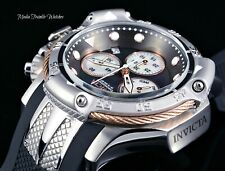 Invicta Subaqua Poseidon Black Dial Quartz Chronograph Rose Gold & Silver Watch
