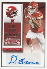 2015 PANINI CONTENDERS Da'RON BROWN WR CHIEFS ROOKIE TICKET #168 AUTO