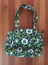 Vera Bradley Green White Flower Purse Bag