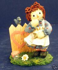 Enesco Raggedy Ann Figurine-New in Box-#640506-Happiness- Pink Heart- Retired