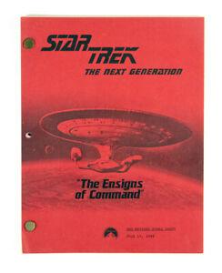 STAR TREK: TNG ORIGINAL SCRIPT - THE ENSIGNS OF COMMAND, BY MELINDA SNODGRASS