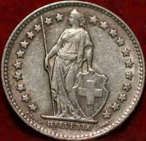 1955 Switzerland 1/2 Franc Silver Foreign Coin