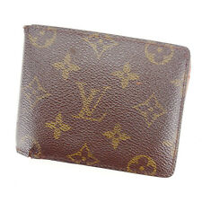 Louis Vuitton Wallet Purse Bifold Monogram Brown Woman Authentic Used Y4988
