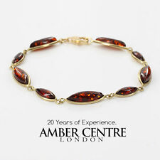 ITALIAN MADE BALTIC AMBER BRACELET IN 9CT GOLD -GBR032 RRP£350!!!