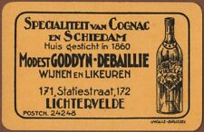 Playing Cards Single Card Old GODDYN-DEBAILLIE Alcohol Advertising COGNAC BRANDY