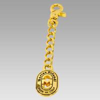 Marino Orlandi Italian Designer Signature Gold Plated Logo Purse Keychain Keyfob