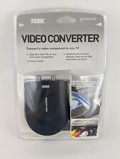 Terk Mini RF Modulator Compact Switch TV Audiovox Video Converter - NEW