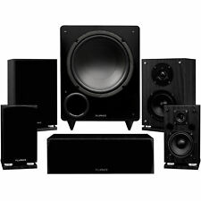 Fluance Elite Series Compact Home Theater 5.1 Speaker System - Black Ash