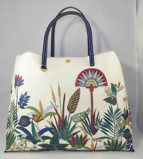 NWT Tory Burch New Ivory Utopia Kerrington Square Tote Auth Handbag xlarge  $295