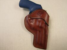 "Ruger LCRX 3"" formed BROWN leather Owb belt holster,  Braids Holster"