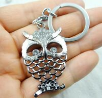 48*33MM Hand-carved owl Wooden Crafts, Key Chain, Key Ring A29