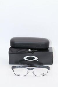Oakley Eyeglasses OX 5038 1055  Metal Plate Satin Light Steel NIB Titanium 55