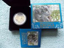 2014-P AUSTRALIAN SILVER KOALA Gilded/Gilted 1 oz BU with box and COA