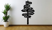 Harry Potter Movie Sign Post Directions Cool Home Wall Decal Sticker TV FI19