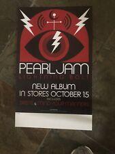Pearl Jam - Rare Concert/gig poster, Lightning Bolt Promo
