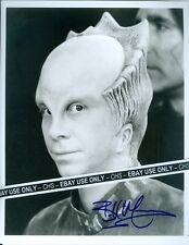 "BILL MUMMY NICE SIGNED B&W 8x10 PHOTO ""BABYLON 5"" ""LOST IN SPACE"""