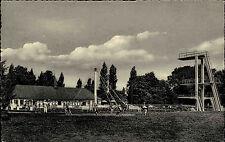 Diepholz Niedersachsen alte s/w Postkarte um 1950/60 Freibad Schwimmbad Turm