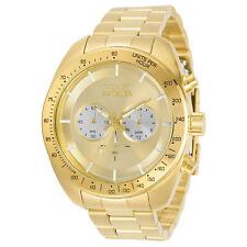 Invicta Men's 30789 Speedway Quartz Chronograph Silver Gold Dial Watch