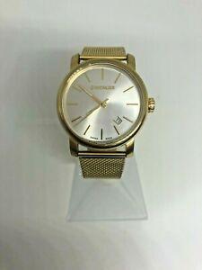 Wenger Gents quartz watch- Silver dial- GP blet- C/N 1041.14