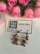 Silvertone Vintage Mickey Mouse and Minnie Mouse Dangle Earrings