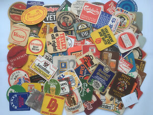 Job Lot Collection Of 100+ Beer Mats Coasters (119)