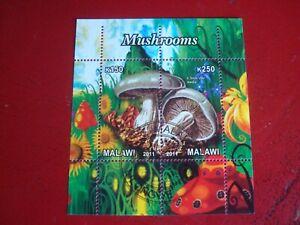 MALAWI: 2011 MUSHROOMS - MINISHEET UNMOUNTED USED MINIATURE SHEET