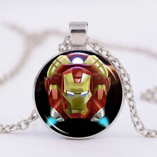 Marvel's The Avengers Photo Cabochon Glass Tibet Silver Chain Pendant Necklace
