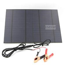 Solar 10w Panel 12v Battery usb Camping Mono Charging Caravan Camping